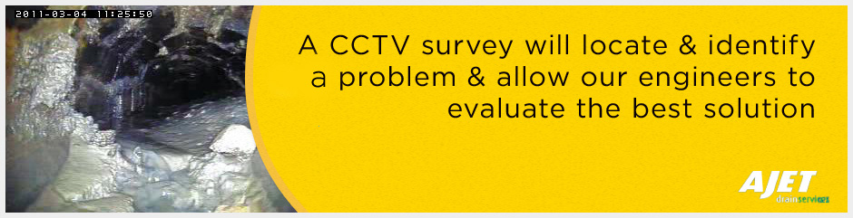 a CCTV survey will locate and identify any problem and allow our engineers to evaluate the best solution